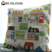 Budloom cartoon house cushion covers kids room bed/sofa decoration pillowcase childlike pillow covers handmade pillow shams