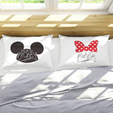 Disney Mickey Minnie Mouse 3D Pillowcases Mr Mrs  2pcs/Set Couple Lover Birthday Gift Mr Mrs Pillow Cover Shams 50X75cm as Gifts
