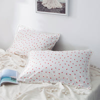 2 piece cute dot macrame lace 100% girls cotton pillowcases winter printed king size bed trend style decorative pillow sham