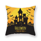 Hot Selling Pillow cover INS Halloween Pumpkin skull Luxury Printing Square Zippered Pillow Sham Personalized Pillowcase