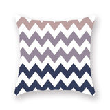Hot Selling Pillow cover Geometric Lattice Wave Luxury Printing Square Zippered Pillow Sham Personalized Pillowcase wholesale