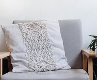 Macrame cushion cover Bohemian throw pillow cover / wedding decorative cushion sham custom size and color