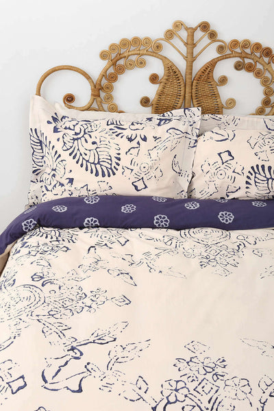 1 or 2 Urban Outfitters Standard Shams Block Medallion by Magical Thinking Blue