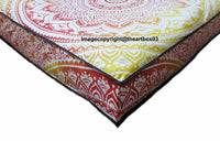 Ombre Mandala Decorative Floor Cushion Cover Square Pet Dog Bed Covers 35 x 35 ""