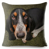 Cute French Basset Hound Dog Throw Pillow Cushion Covers Car Decor Pet Animal