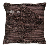 "Decorative Square 18""Hand loom wool Shaggy Pillow Cover Handwoven Cotton Cushion"