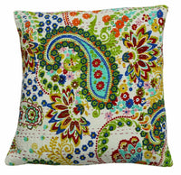 New Indian Art Handmade Cotton Kantha Decor Art Pillow Cushion Cover Sofa Throw