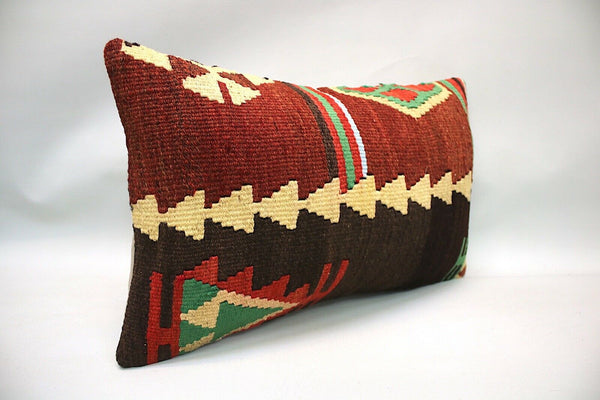 Kilim Sofa Pillow, 12x20 inc, Decorative Pillow, Throw Pillow, Accent Pillow