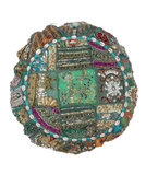 Patchwork Round Pillow Cushion Cover Home Decor Cushions Cover Indian Embroidery