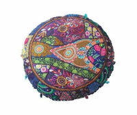 "New 32"" Round Patchwork Cushion Cover Floor Decorative Pillow Covers Throw ..."