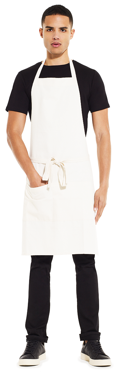 SA77 | Recycled Unisex Bib Apron with Pockets