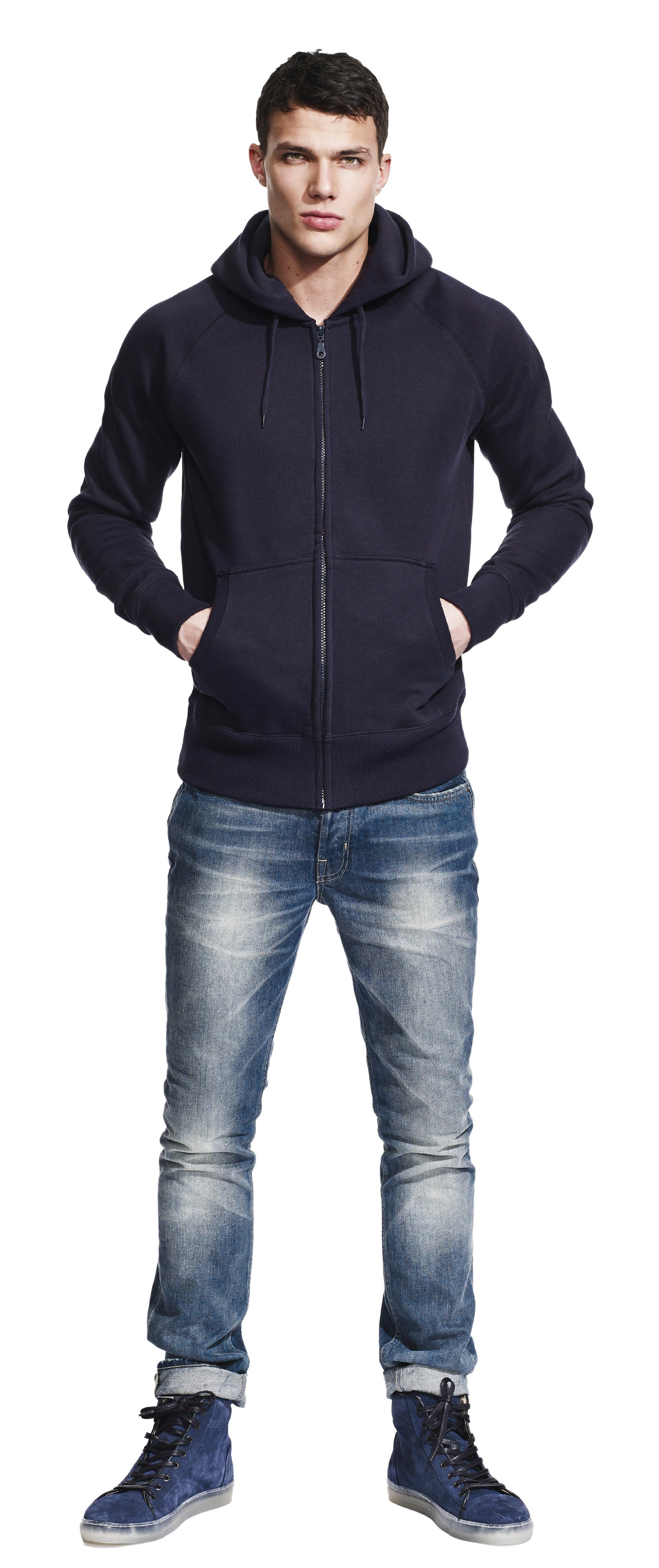 N51Z | Continental Men's Raglan Zip Up Hoody