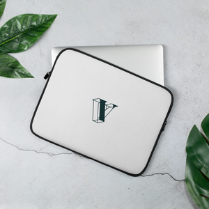 V is for Vault Laptop Sleeve - Green