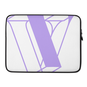 V is for Vault Laptop Sleeve - Violet