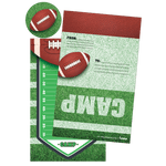 Football Foldover Stationery