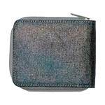Metallic Denim Wallet