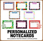 Namedrops Lined Notecards