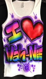 "Airbrushed ""I Heart Camp ""Tank"