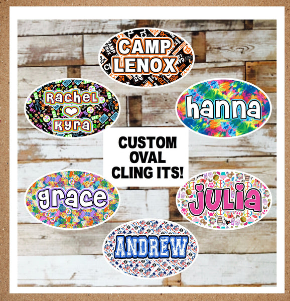Oversized Oval Name Decal