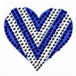 "Blue & White Heart - 2"" StickerBeans Sticker"