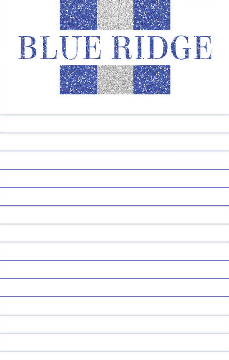 Camp Name Glitter Stripe Notepad