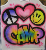 Airbrushed Peace Heart Smiley Tank