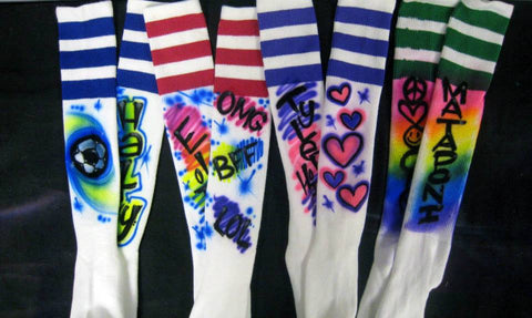Airbrushed Soccer Knee-High Socks