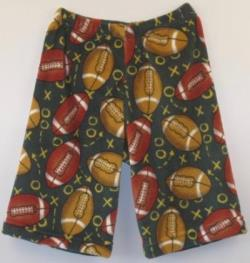 Fuzzy Pajama Shorts (Long/Boys) - Football