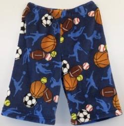 Fuzzy Pajama Shorts (Long/Boys) - Sports Frenzy