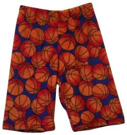Fuzzy Pajama Shorts (Long/Boys) - Basketball
