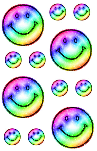 Rainbow Smiley Cling-It Sheet