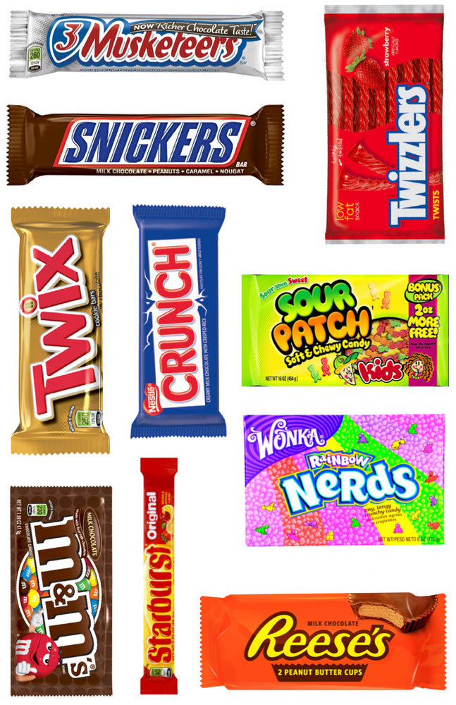 Candy Bars Cling-It Sheet