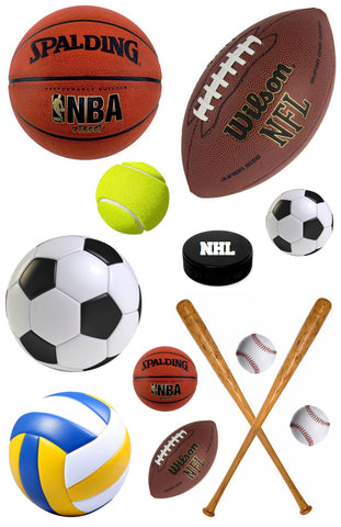 Assorted Sports Cling-It Sheet