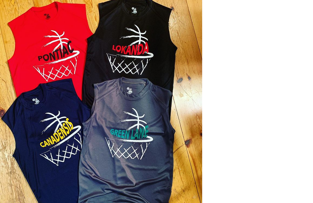 Camp Swooosh BBall Dri Fit Muscle Tee
