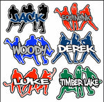 Sports Silhouettes Decals