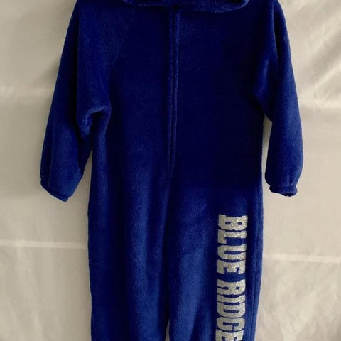 Solid Fuzzy Onesie Pajamas with Camp or Name