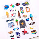 Camp Stickers - Set C