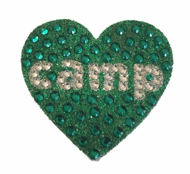 "Green Camp Heart - 2"" StickerBeans Sticker"