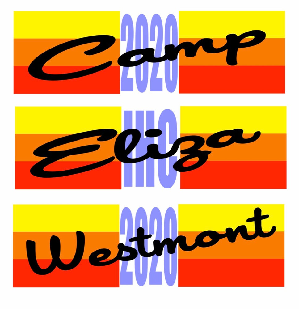 Sunset Stripe Rectangle Nameplate Decal
