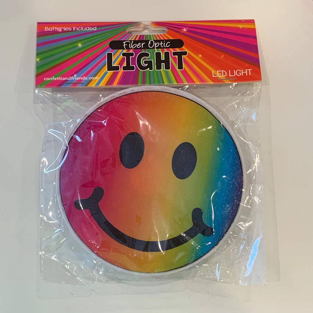Fun Fiber Lights - Rainbow Smiley
