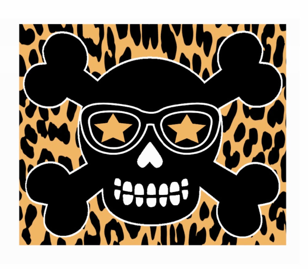 Leopard Skull Decal