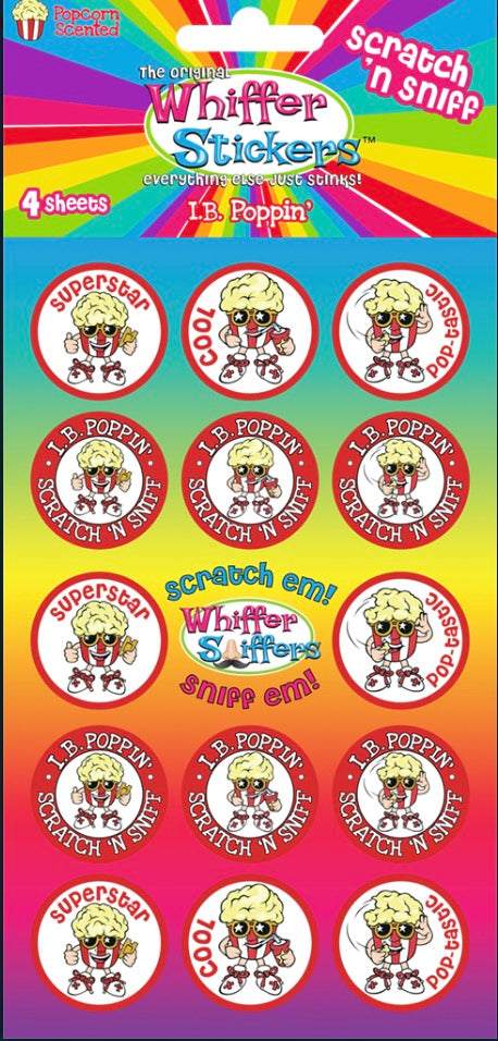 "Whiffer Stickers - Scratch 'n Sniff Stickers ""I.B. Poppin'"""