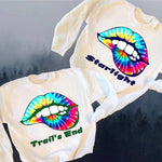 Rainbow Tie Dye Lips Sweatshirt
