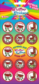 "Whiffer Stickers - Scratch 'n Sniff Stickers ""Milton Melon"""