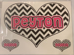 Sample Sale - Peyton - Oversized Heart Decal