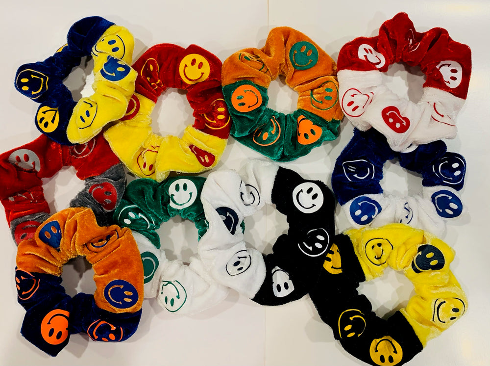 Happy Face Scrunchies