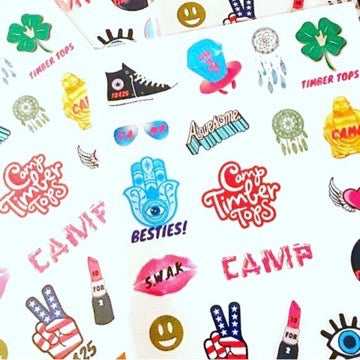 Camp Stickers - Set A