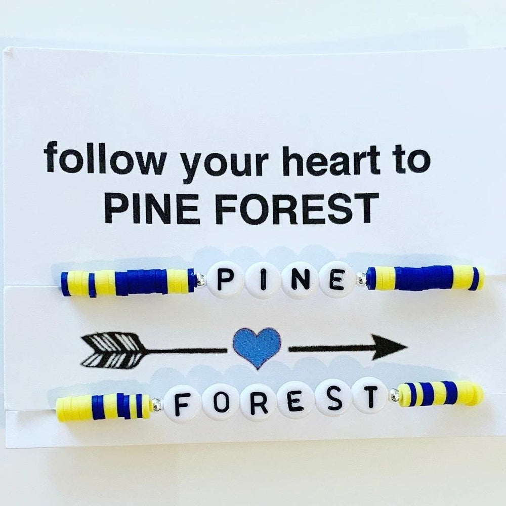 "Double Strand ""Follow Your Heart"" Bracelet Card - Camp Colors"