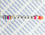 Personalized Rubber Disc Bracelets - Rainbow