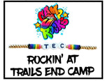 "Single Strand ""Rockin' at Camp"" Bracelet on a Card"